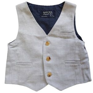 MAYORAL Infant Boys Dressy Vest Sz 9 Months